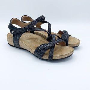 Taos Ziggie Leather & Woven Wedge Flatform Sandal